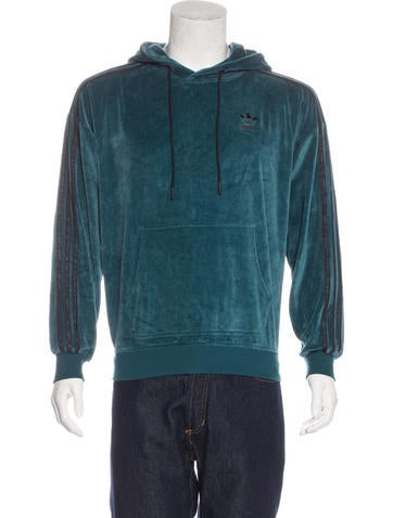 adidas velour pullover hoodie clothing w2ads20358. Black Bedroom Furniture Sets. Home Design Ideas