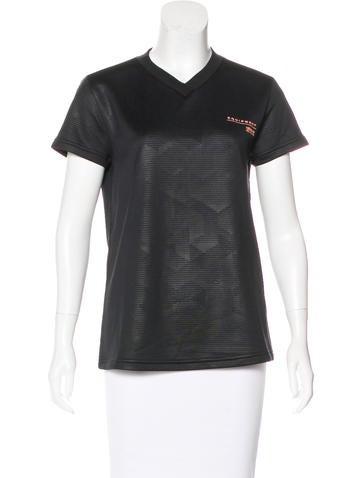 Adidas Short Sleeve V-Neck Top None