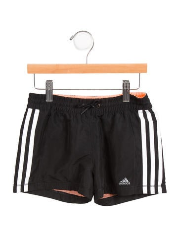 Adidas Girls' Athletic Logo Shorts None