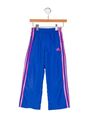 Adidas Girls' Striped Athletic Pants None