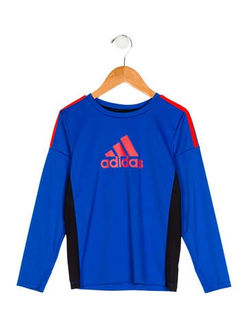 Adidas Boys' Long Sleeve Printed Shirt None