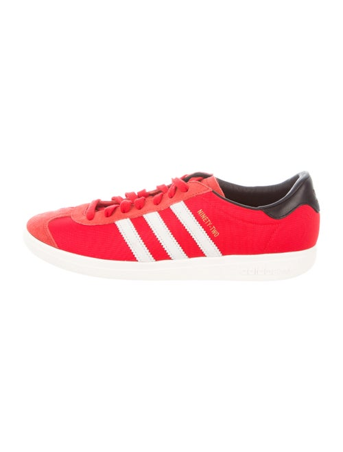 Adidas Suede-Trimmed Low-Top Sneakers red