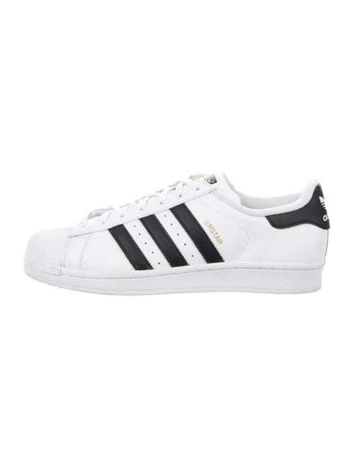 Adidas Leather Striped Sneakers White