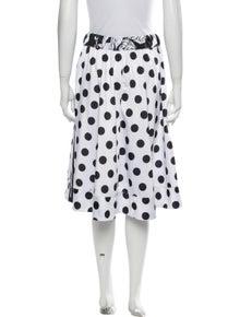 Adidas Polka Dot Print Knee-Length Skirt