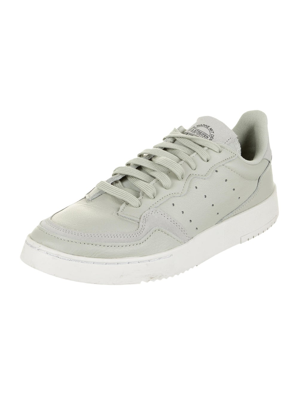 Adidas Leather Athletic Sneakers Green - image 2