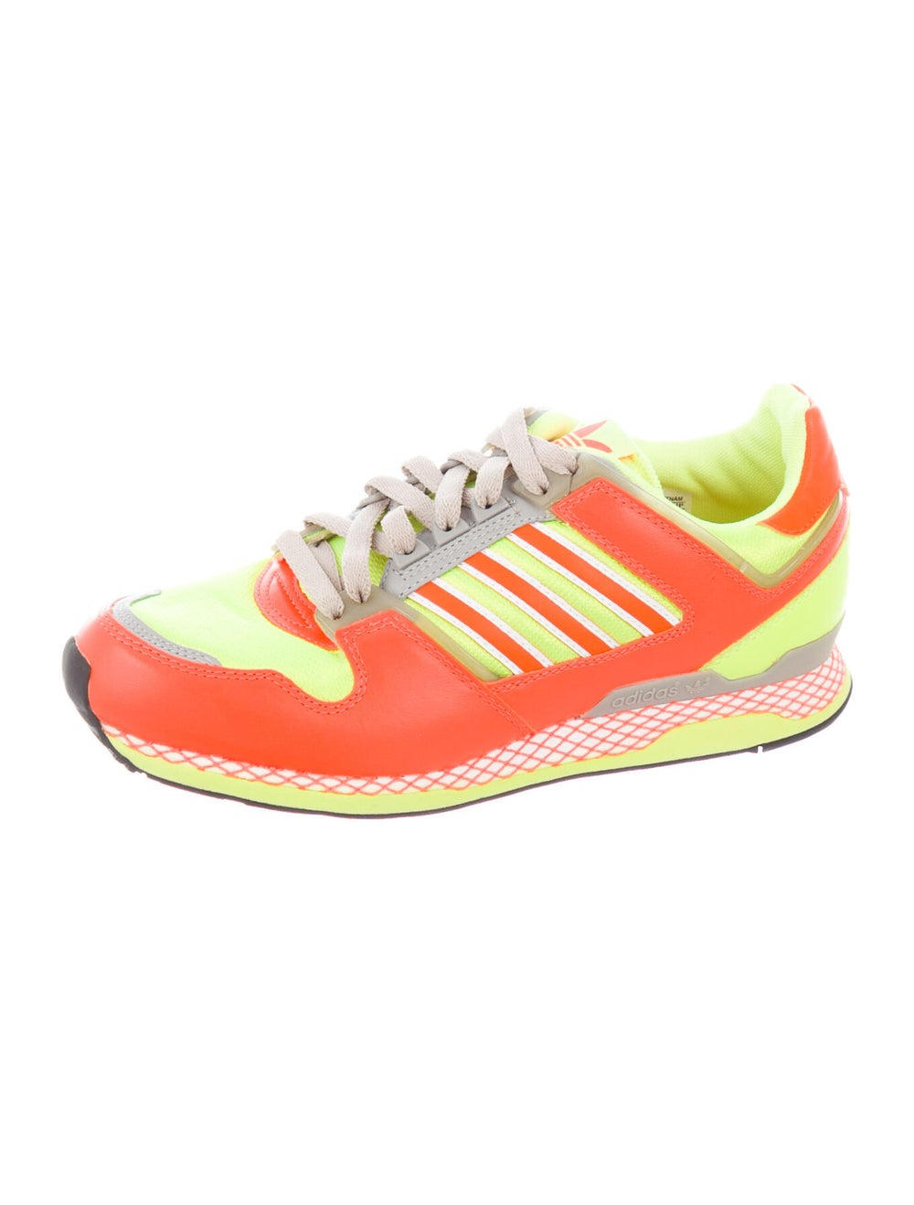 Adidas Leather Printed Athletic Sneakers Orange - image 2