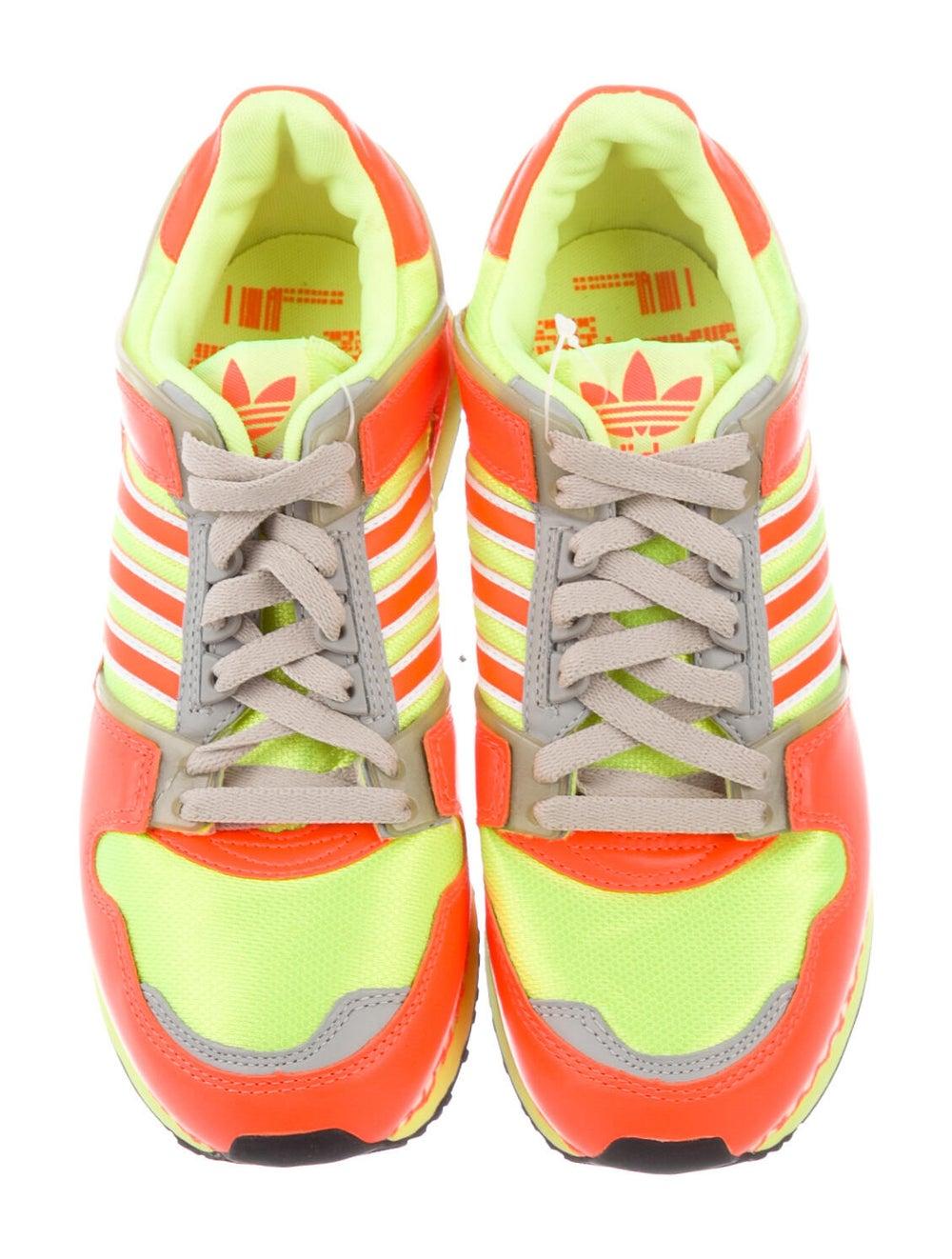 Adidas Leather Printed Athletic Sneakers Orange - image 3
