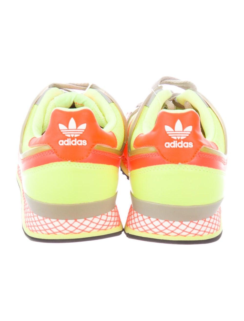 Adidas Leather Printed Athletic Sneakers Orange - image 4