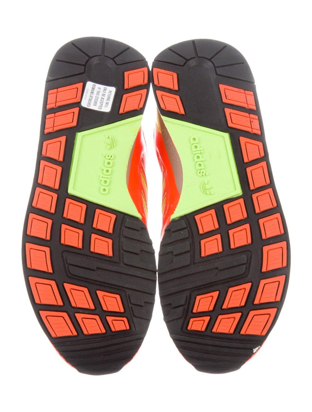 Adidas Leather Printed Athletic Sneakers Orange - image 5