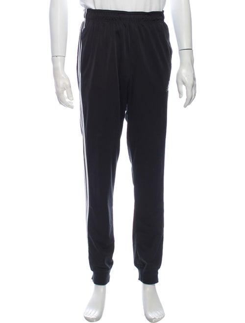 Adidas Striped Athletic Pants Black
