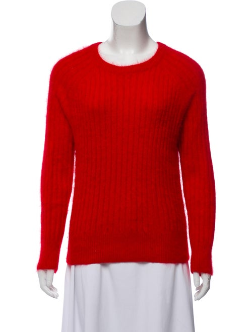 Ba&sh Textured Knit Sweater Red