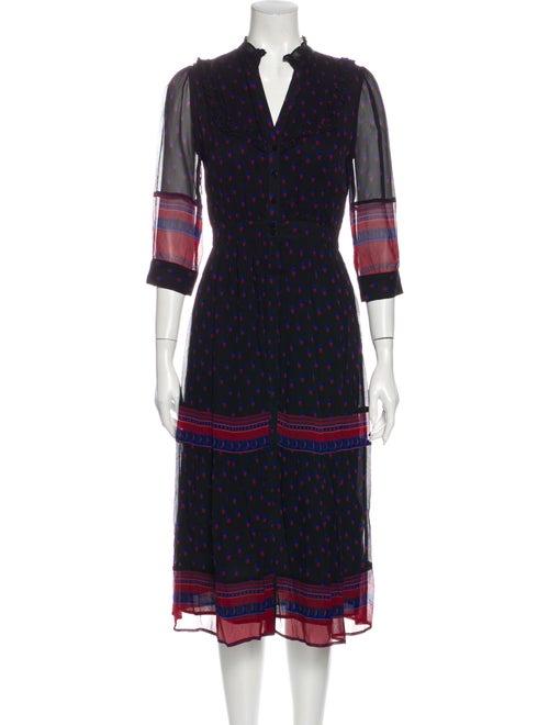 Ba&sh Lady Dress Midi Length Dress Black