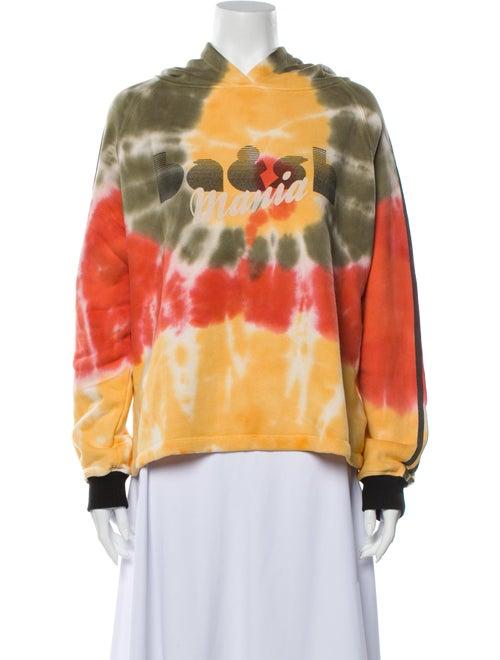 Ba&sh Tie-Dye Print V-Neck Sweatshirt Orange