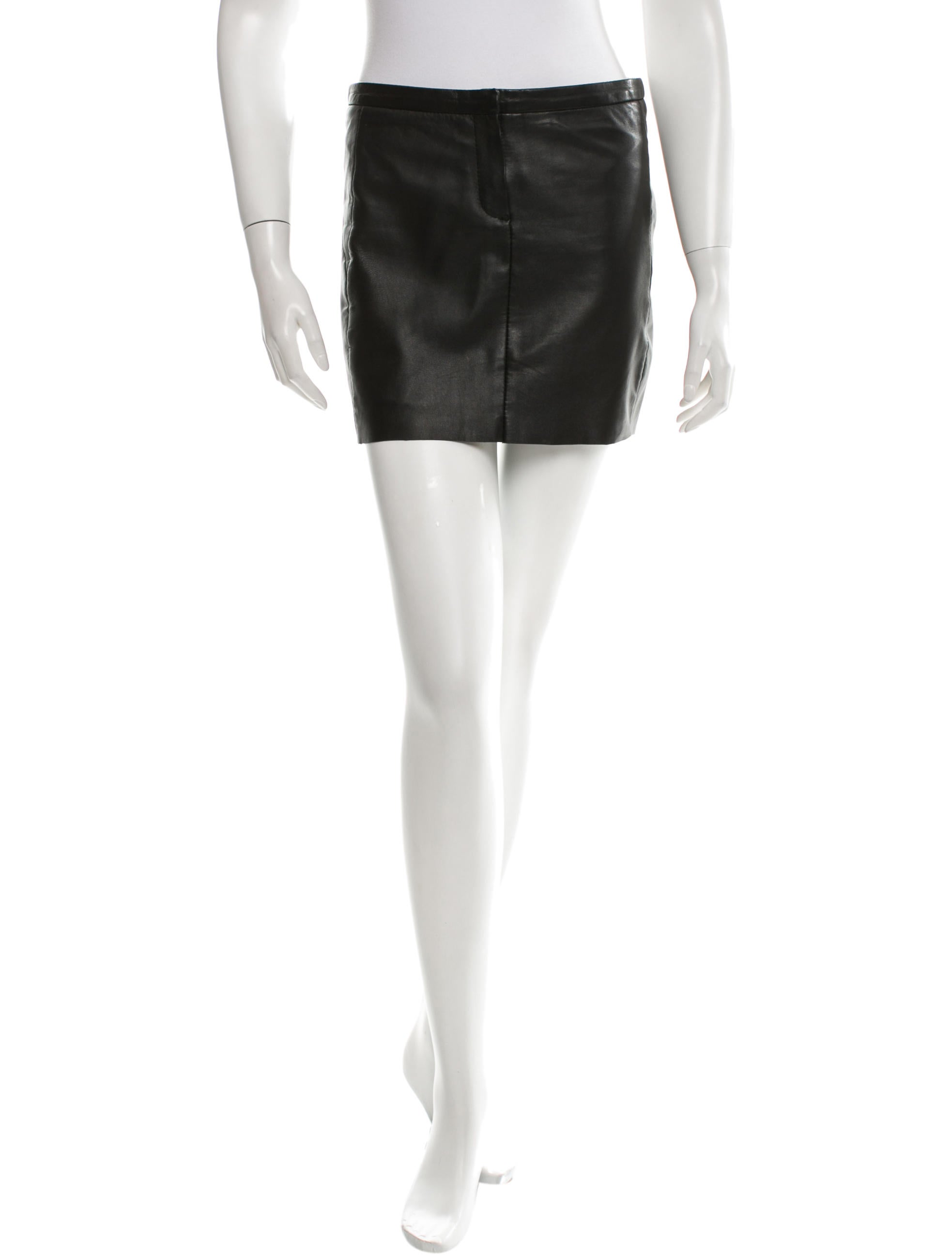 maje leather mini skirt clothing w2m23112 the realreal