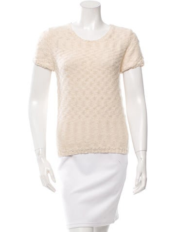 Maje Embellished Crew Neck Sweater None
