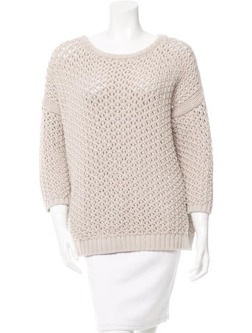 Maje Evangeli Open Knit Sweater None
