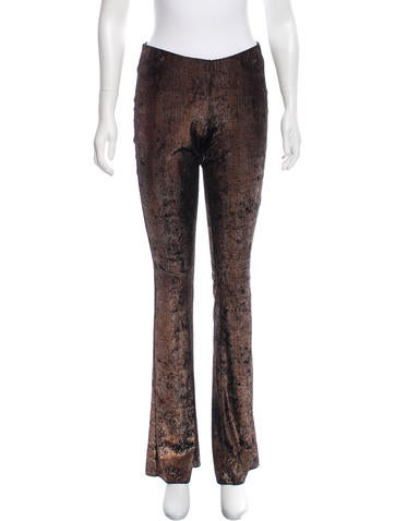 Maje Metallic Wide-Leg Pants