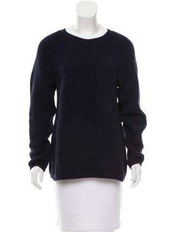 Maje Long Sleeve Crew Neck Sweater None