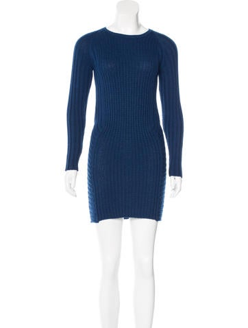 Maje Rib Knit Sweater Dress None
