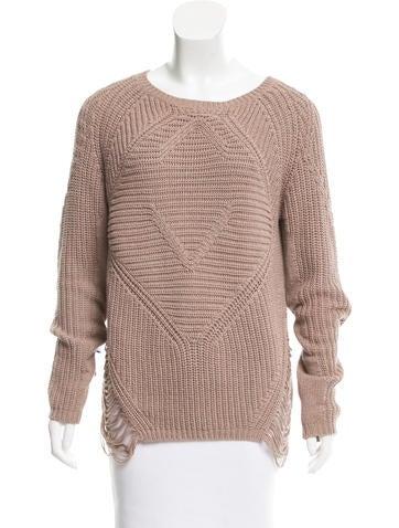 Maje Long Sleeve Open Knit Sweater None