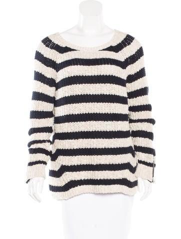 Maje Striped Knit Sweater None