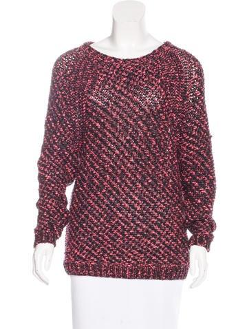 Maje Open Knit Raglan Sweater None