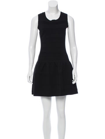 Maje Sleeveless Drop-Waist Dress