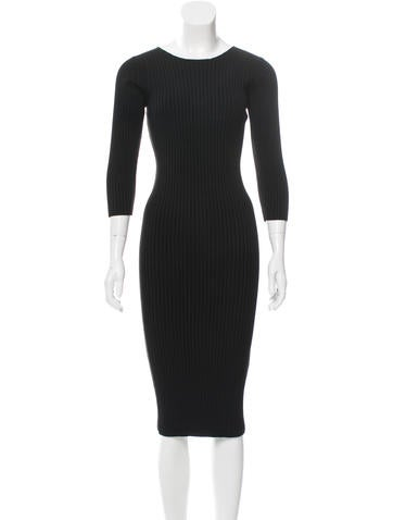 Maje Rib Knit Midi Dress w/ Tags None