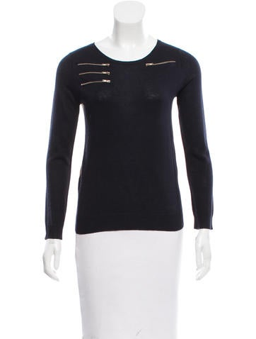 Maje Silk & Cashmere-Blend Sweater None