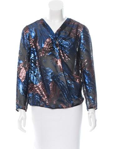 Maje Silk Brocade Top w/ Tags None
