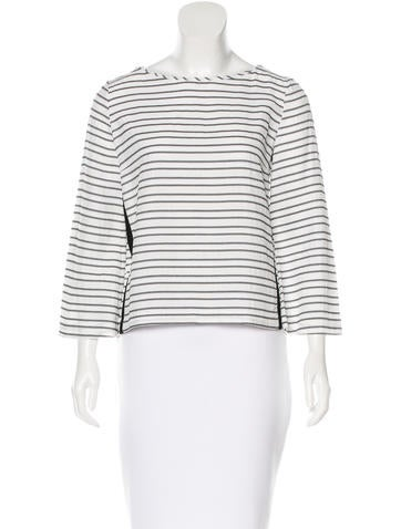 Maje Striped Long Sleeve Top None