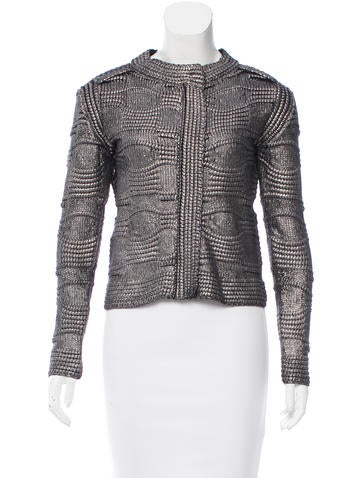 Maje Kalder Metallic Knit Cardigan w/ Tags None