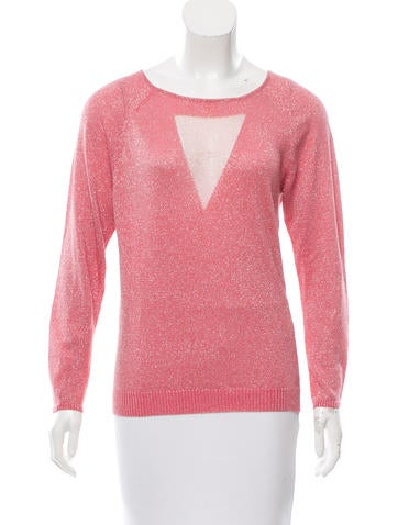 Maje Long Sleeve Lurex Top None