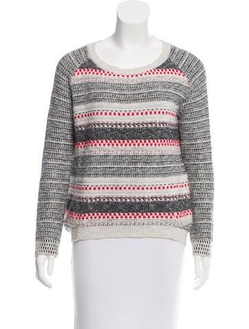 Maje Long Sleeve Knit Sweater None