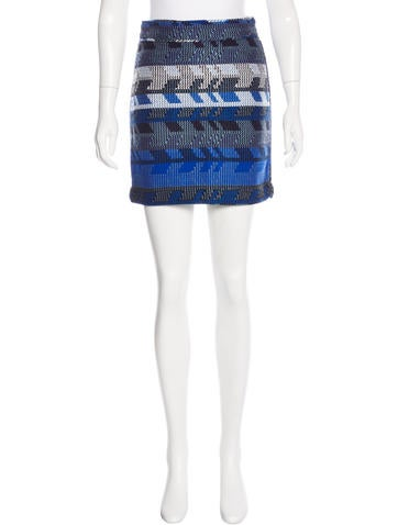 Maje Knit Mini Skirt w/ Tags None