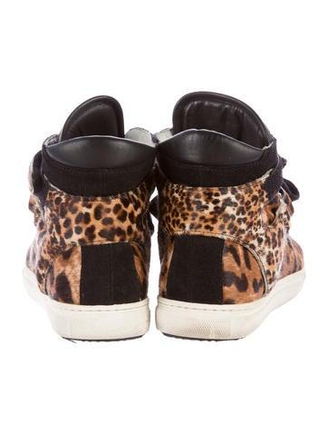 Ponyhair High-Top Sneakers