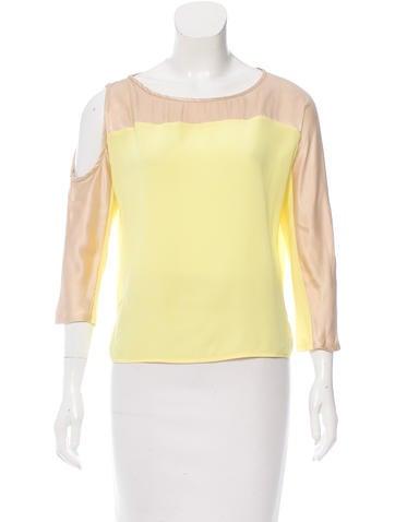 Maje Silk Asymmetrical Top None