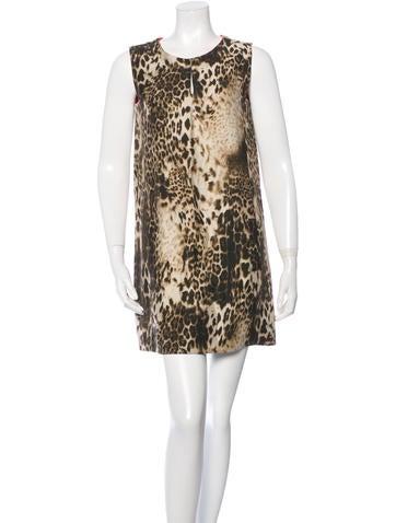 Maje Sleeveless Leopard Dress