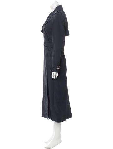 Notch-Lapel Long Jacket