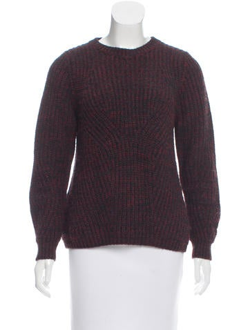 Maje Mélange Crew Neck Sweater None