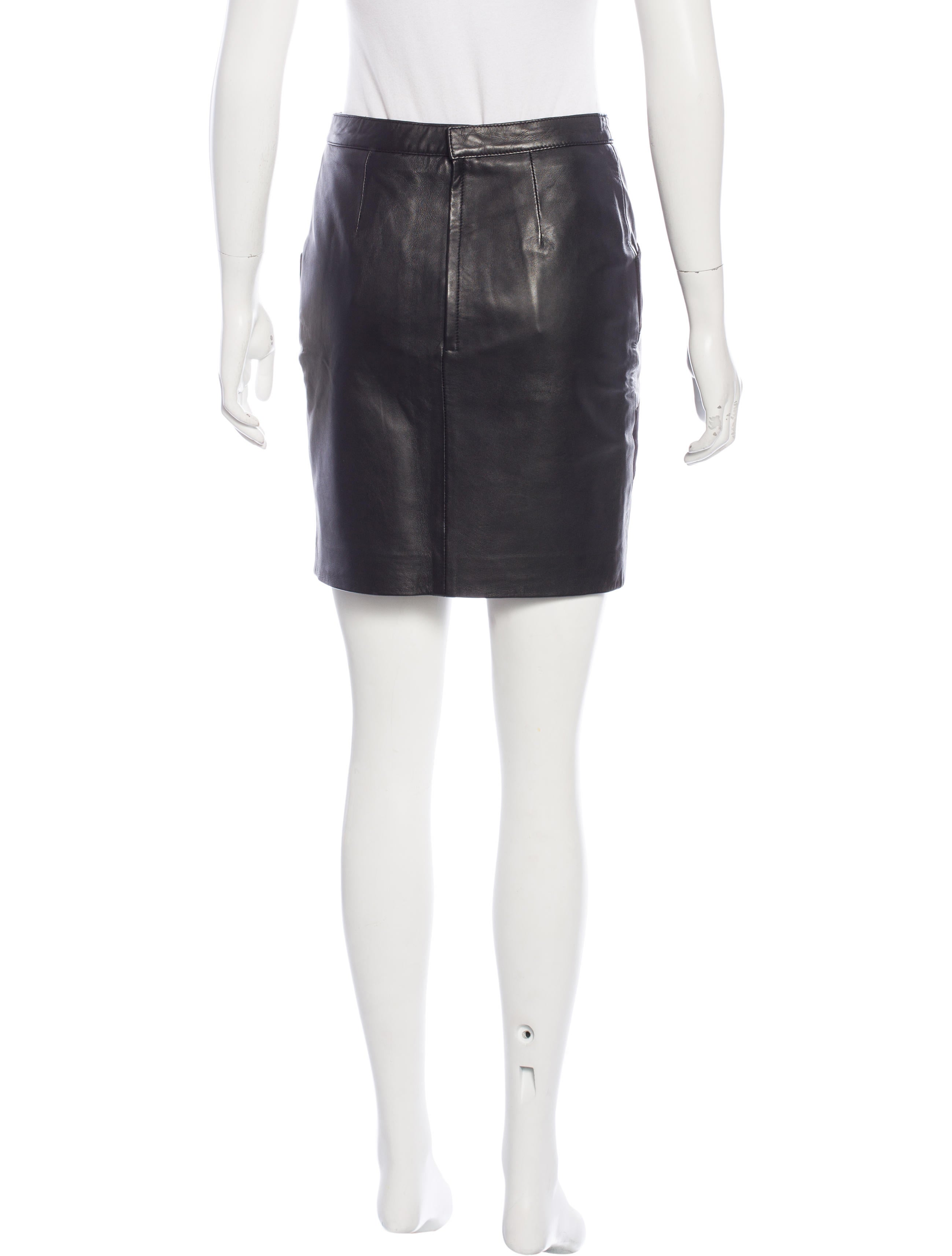 maje suede trimmed leather skirt w tags clothing