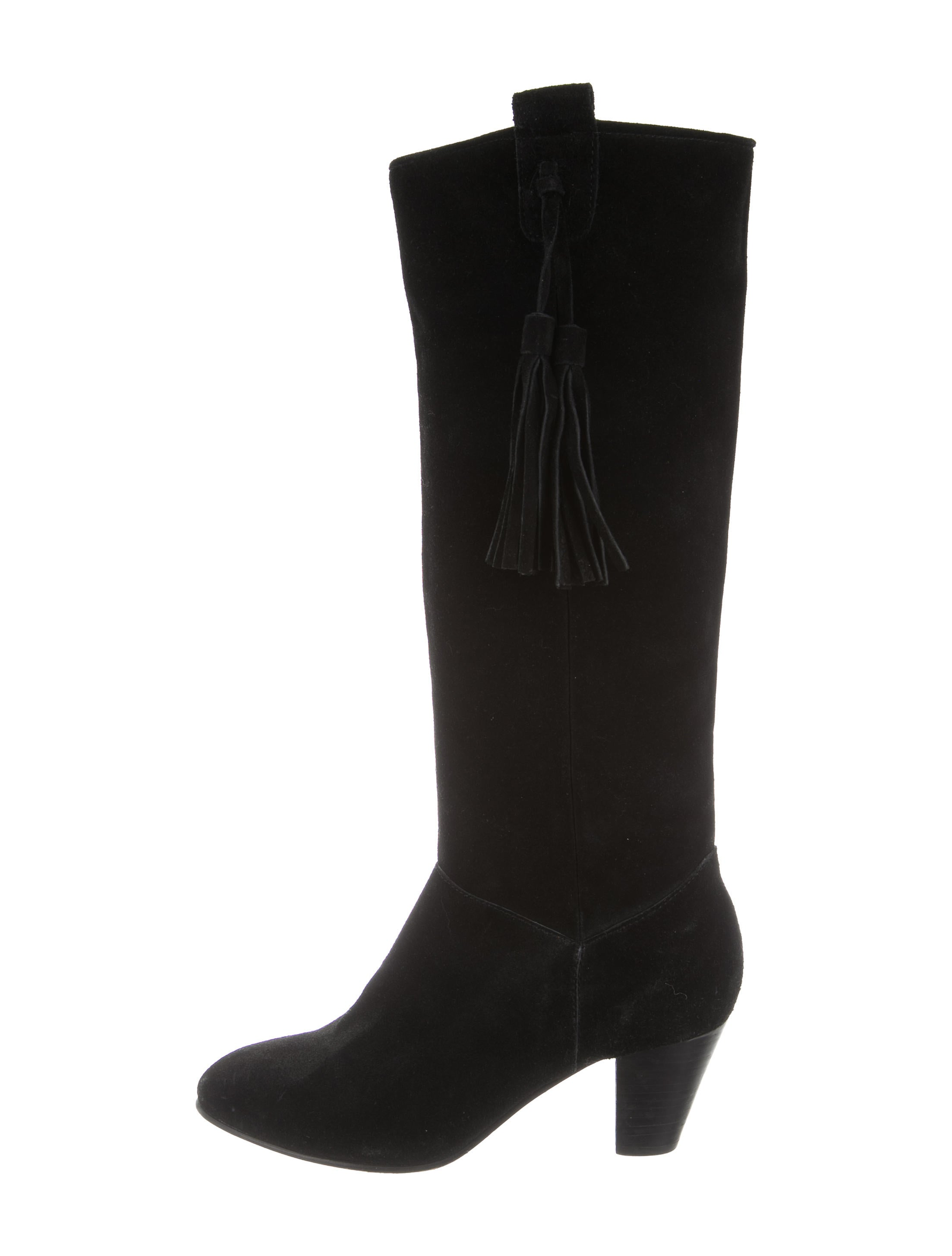 maje suede knee high boots shoes w2m25463 the realreal