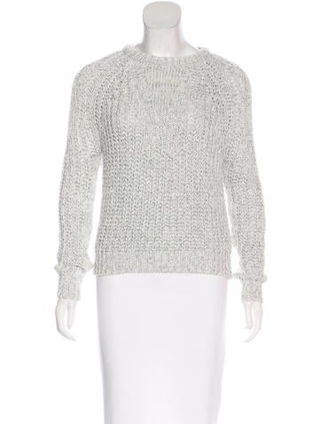 Maje Metallic Knit Sweater w/ Tags None