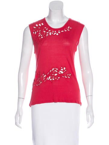 Maje Cut-Out Sleeveless Top None