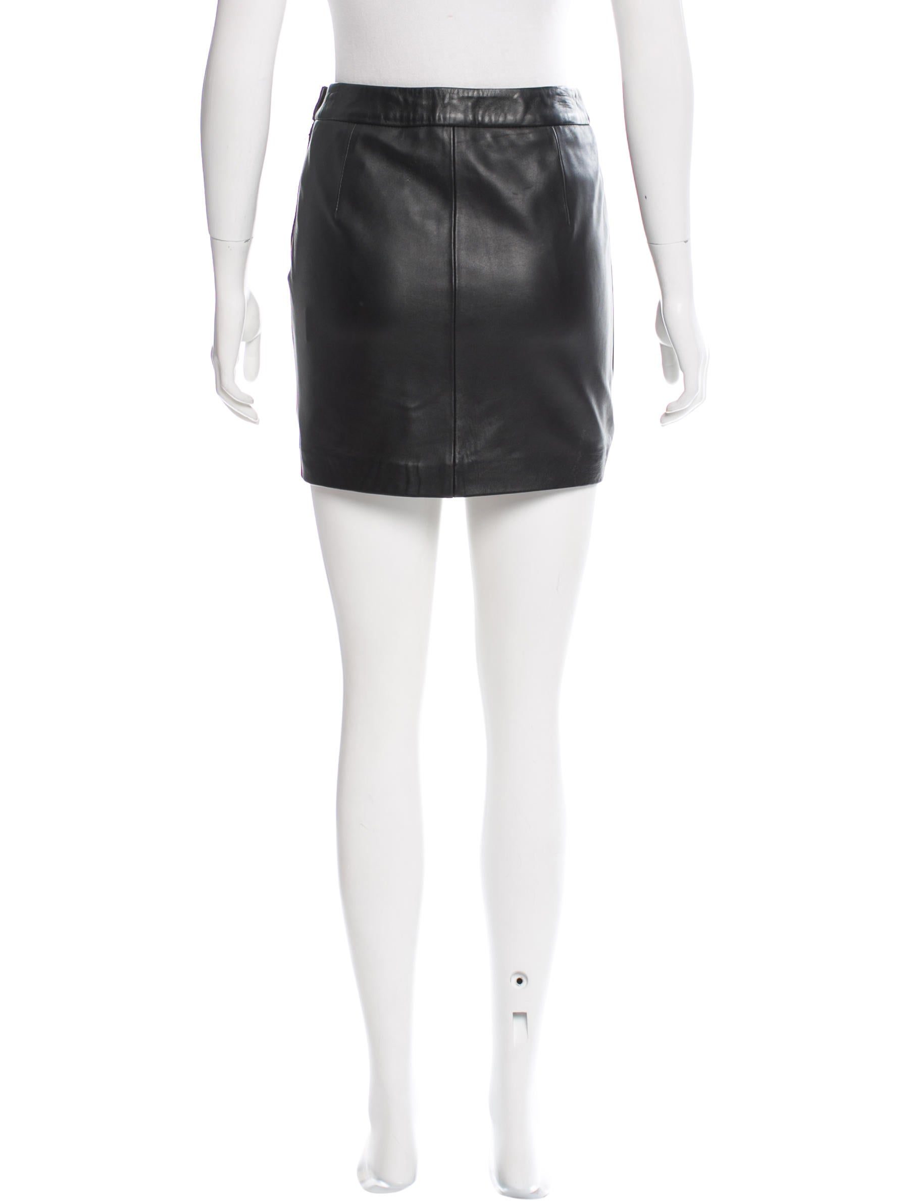 maje leather mini skirt clothing w2m25712 the realreal