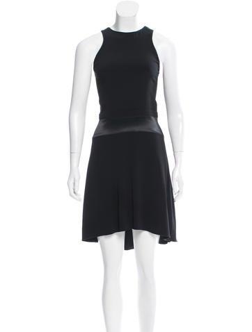 Maje Sleeveless A-Line Dress None
