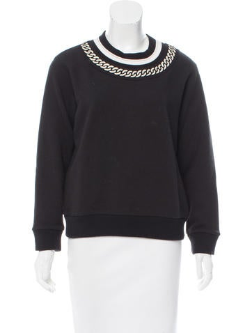Maje Chain-Link Knit Sweater w/ Tags None