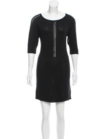 Maje Rib Knit Mini Dress None
