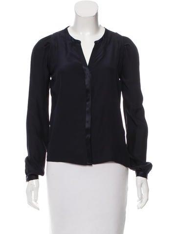 Maje Silk Button Up Top None