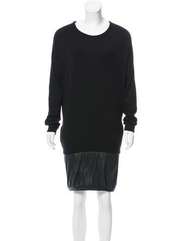 Maje Knit Mini Dress None